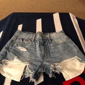 Vintage High Rise Shorty Shorts